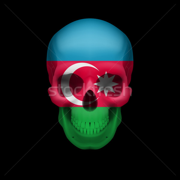Azerbaijanian flag skull Stock photo © dvarg