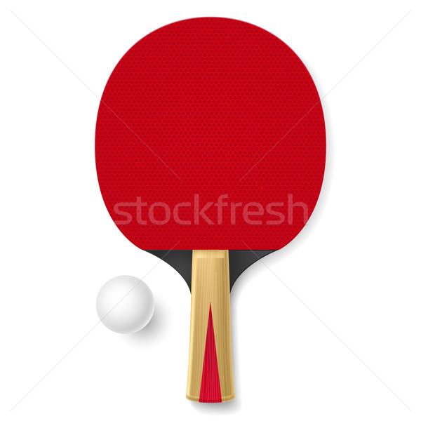 Racchetta da tennis bianco palla illustrazione sport design Foto d'archivio © dvarg