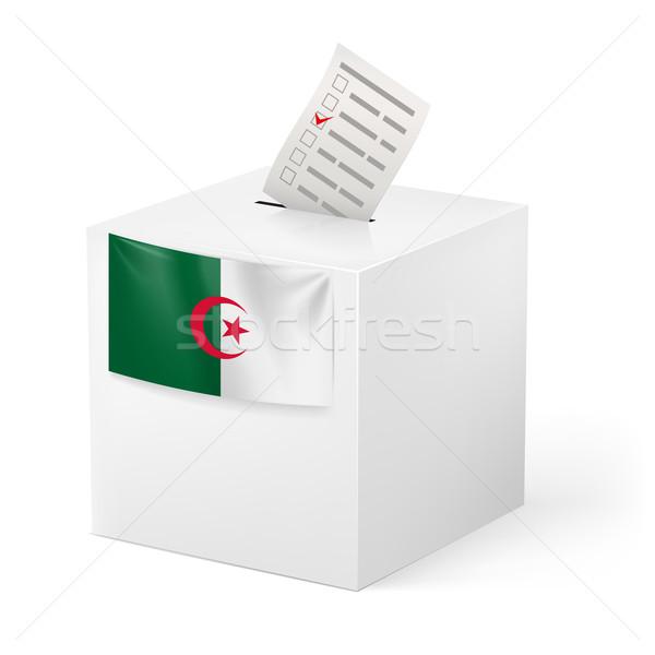Cédula caixa votação papel Argélia eleição Foto stock © dvarg