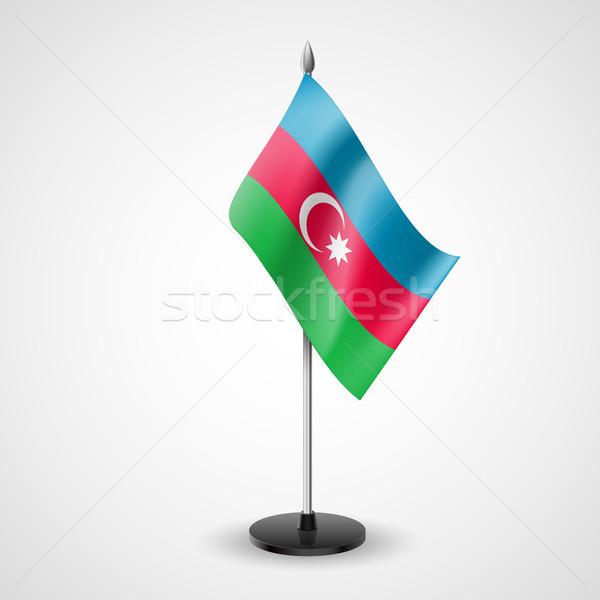 Tabela bandeira Azerbaijão mundo conferência secretária Foto stock © dvarg