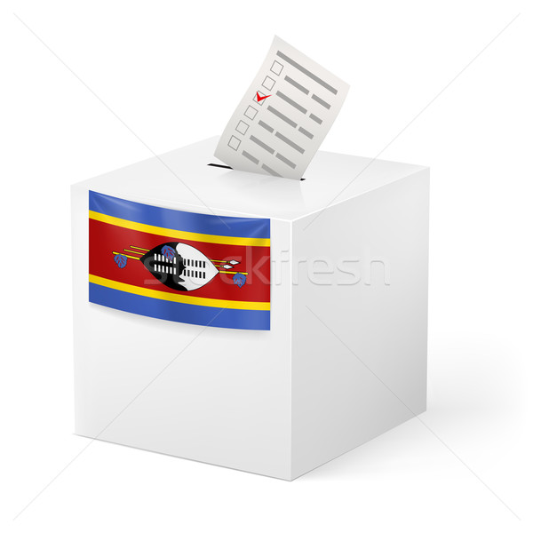 Ballot box with voting paper. Swaziland Stock photo © dvarg