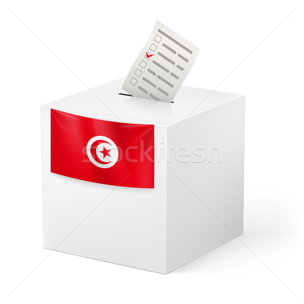Ballot box with voting paper. Tunisia Stock photo © dvarg