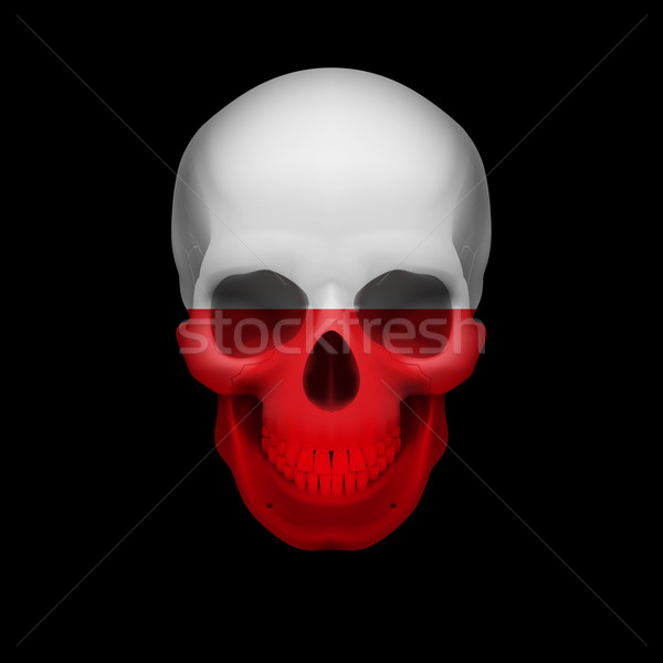 Polish flag skull Stock photo © dvarg