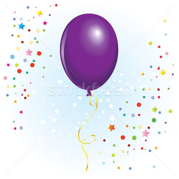Ballon gekruld lint violet vector formaat Stockfoto © dvarg