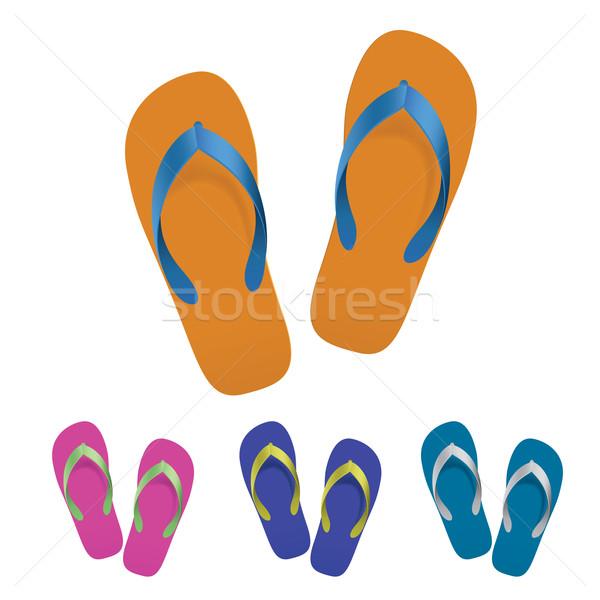 Flip flop set Stock photo © dvarg