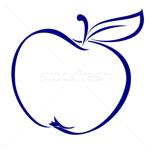 яблоко форма синий иллюстрация белый компьютер Сток-фото © dvarg