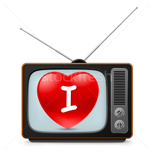 TV set with Heart Stock photo © dvarg
