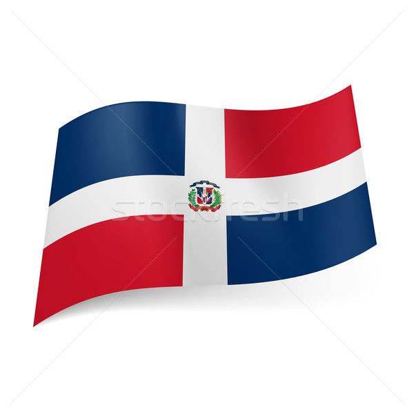 State flag of Dominican Republic Stock photo © dvarg
