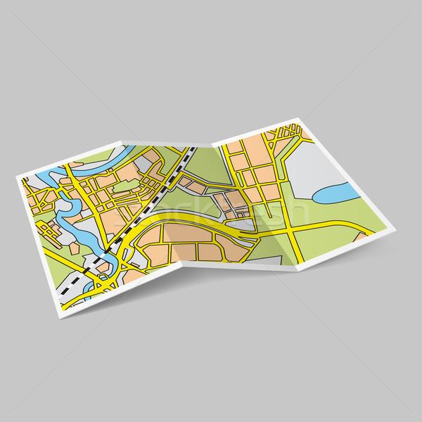 Map booklet Stock photo © dvarg