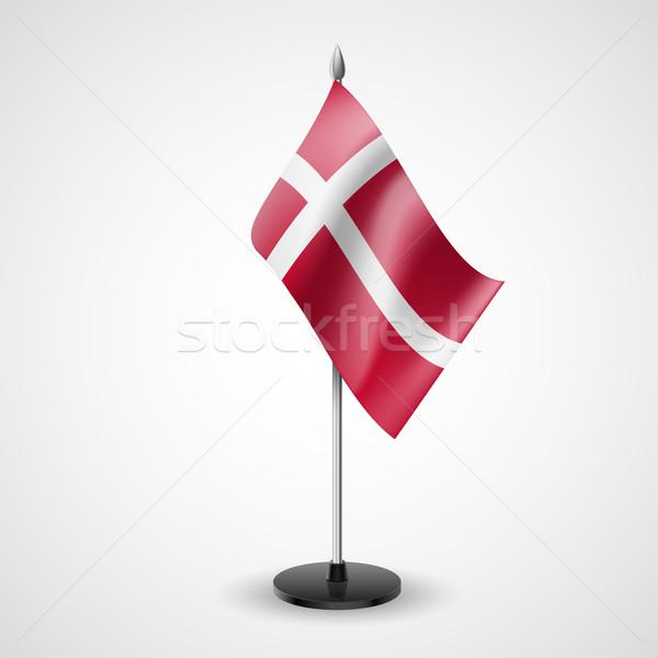 Mesa bandera Dinamarca mundo conferencia escritorio Foto stock © dvarg