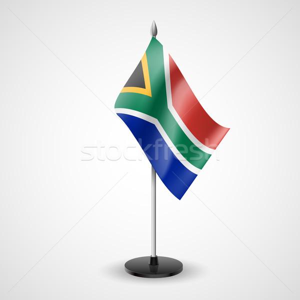 表 フラグ 南アフリカ 世界 会議 デスク ストックフォト © dvarg