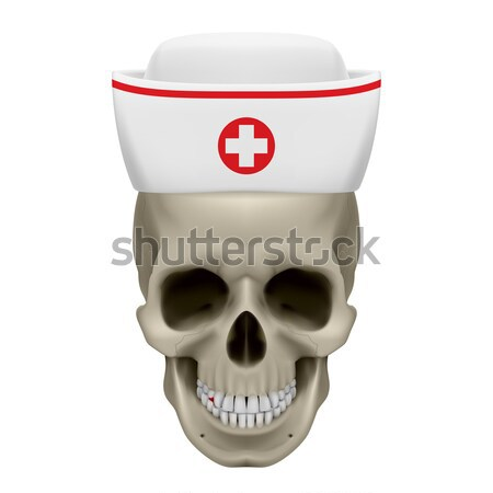 Bleeding skull in nurse cap Stock photo © dvarg