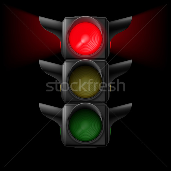 Traffic light with red on Stock photo © dvarg