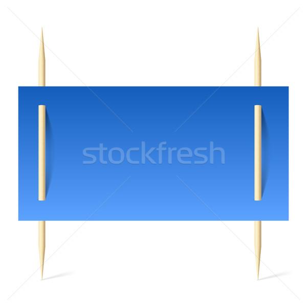 Blauw papier banner illustratie witte textuur Stockfoto © dvarg