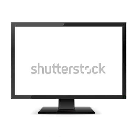 LCD tv monitor fehér képernyő illusztráció Stock fotó © dvarg