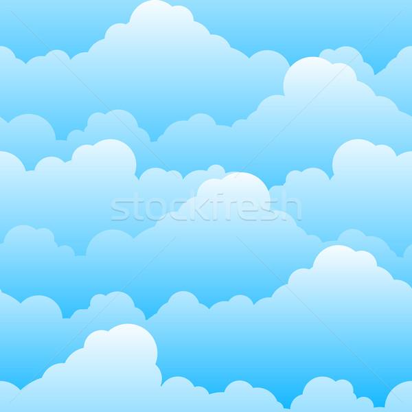 Doku güzel bulutlar örnek dizayn Stok fotoğraf © dvarg
