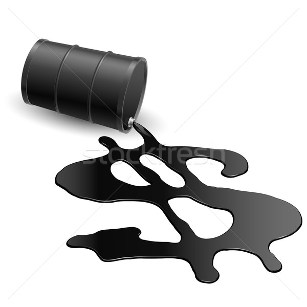 Drum with spilled oil Stock photo © dvarg