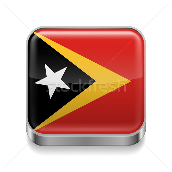 Metal  icon of East Timor Stock photo © dvarg