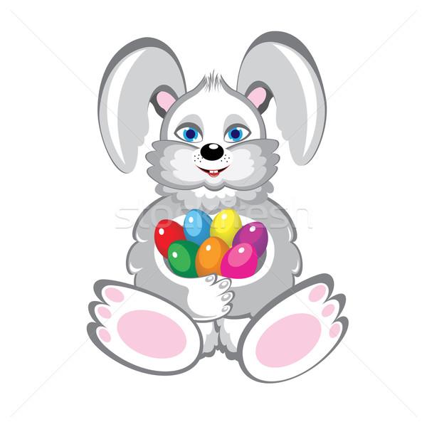 Bunny With Easter Eggs Stock photo © dvarg