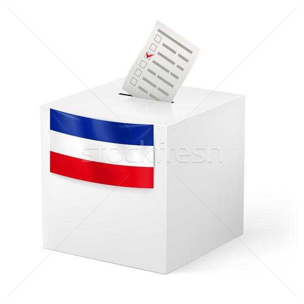 Scrutin boîte papier élection isolé blanche Photo stock © dvarg