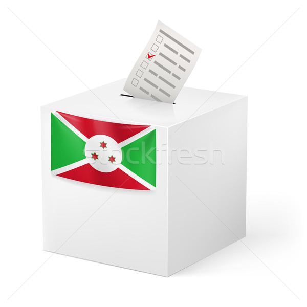 Oylama kutu kâğıt Burundi seçim Stok fotoğraf © dvarg