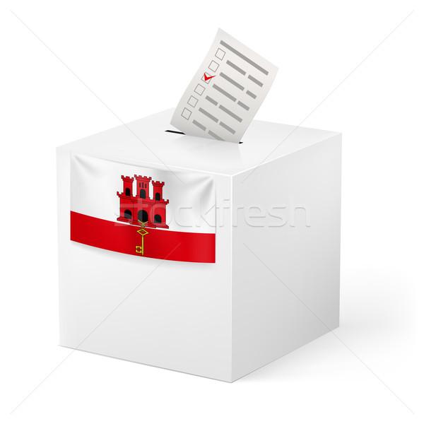 Ballot box with voting paper. Gibraltar Stock photo © dvarg