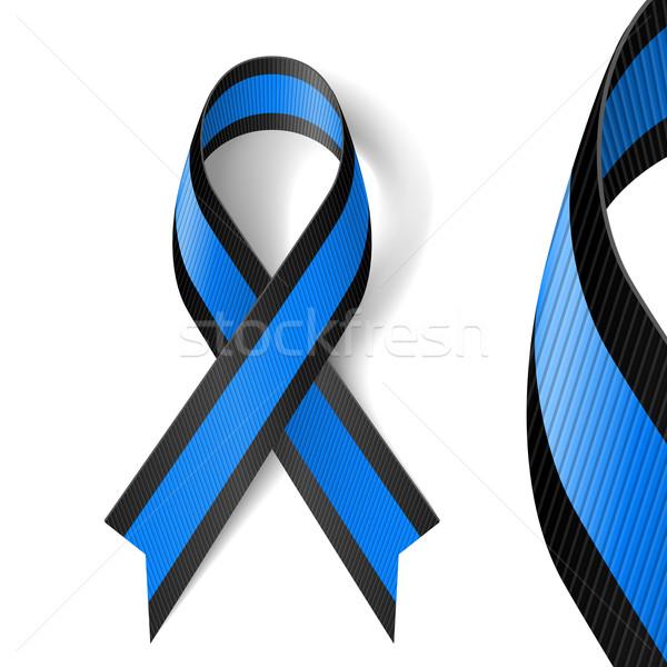 Blue and black ribbon Stock photo © dvarg