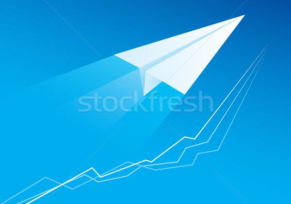 Flying Paper Airplane Stock photo © dvarg