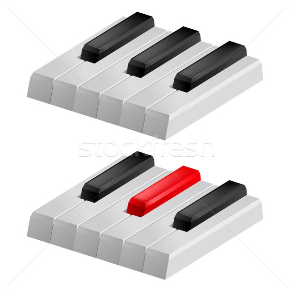 Black and white piano keys Stock photo © dvarg