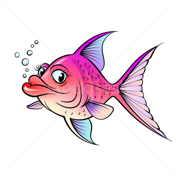 Cartoon fish Stock photo © dvarg