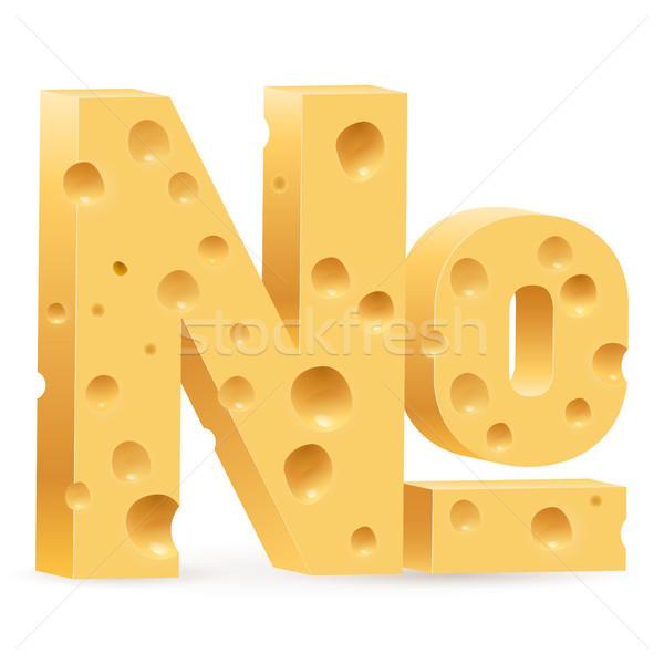 Käse Zeichen Zahl Illustration weiß Design Stock foto © dvarg