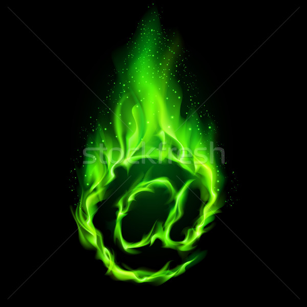 Ardiente símbolo signo verde negro Foto stock © dvarg