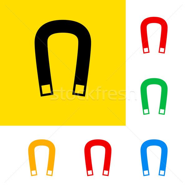 Manyetik alan renk imzalamak bilim Stok fotoğraf © dvarg