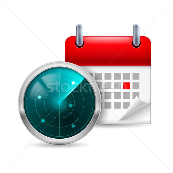 Radar tela calendário ícone tecnologia segurança Foto stock © dvarg
