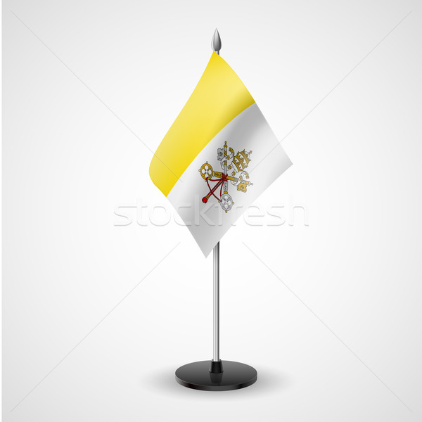 Table flag of Vatican City Stock photo © dvarg