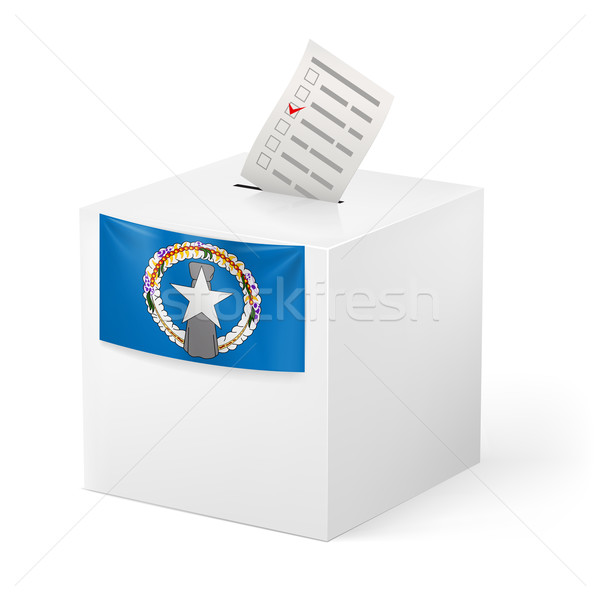 Ballot box with voting paper. Northern Mariana Islands Stock photo © dvarg