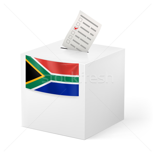 Stemmen vak papier South Africa verkiezing Stockfoto © dvarg