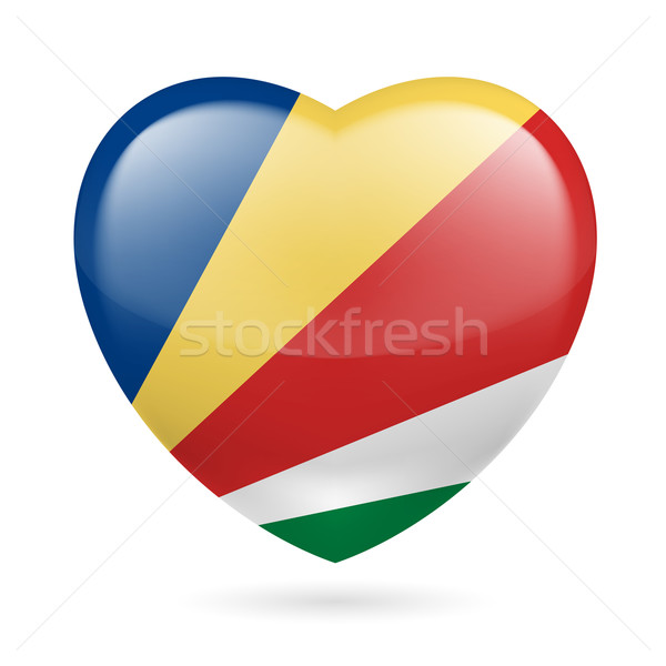 Heart icon of Seychelles Stock photo © dvarg