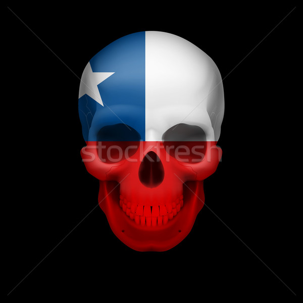 Chilean flag skull Stock photo © dvarg