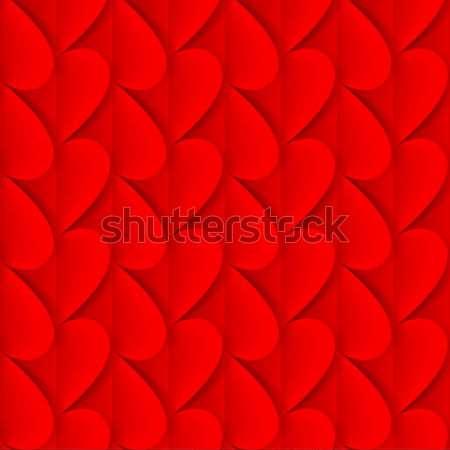 Romantik origami katlanmış kırmızı kâğıt kalpler Stok fotoğraf © dvarg