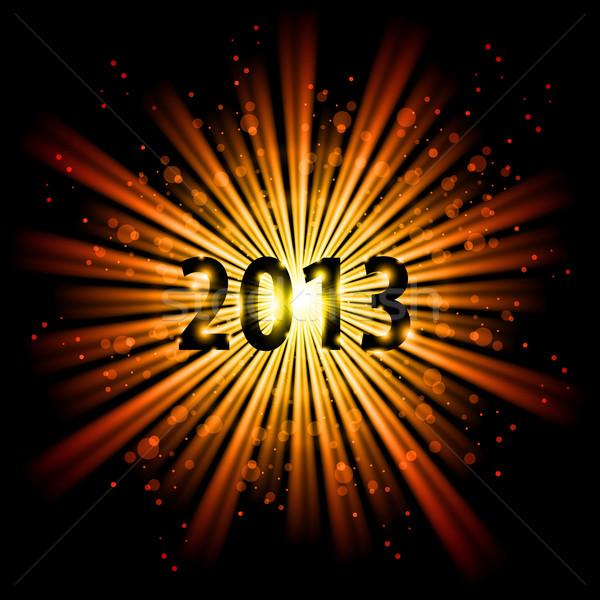 Húsz tizenhárom év arany absztrakt boldog új évet Stock fotó © dvarg