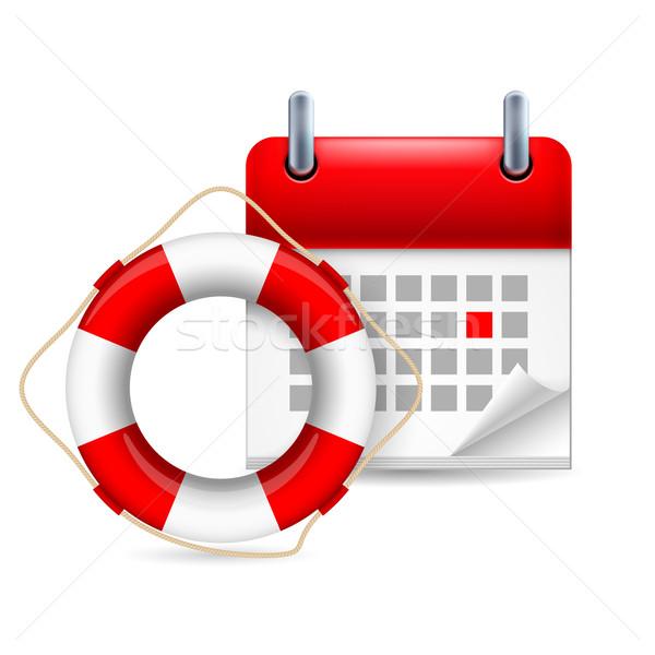 Flotation ring and calendar Stock photo © dvarg