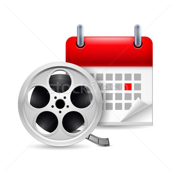 Film reel and calendar Stock photo © dvarg