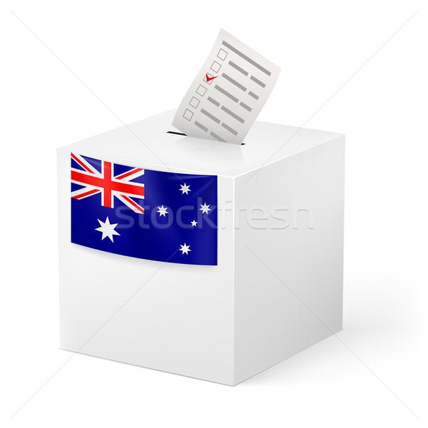Stok fotoğraf: Oylama · kutu · kâğıt · Avustralya · seçim
