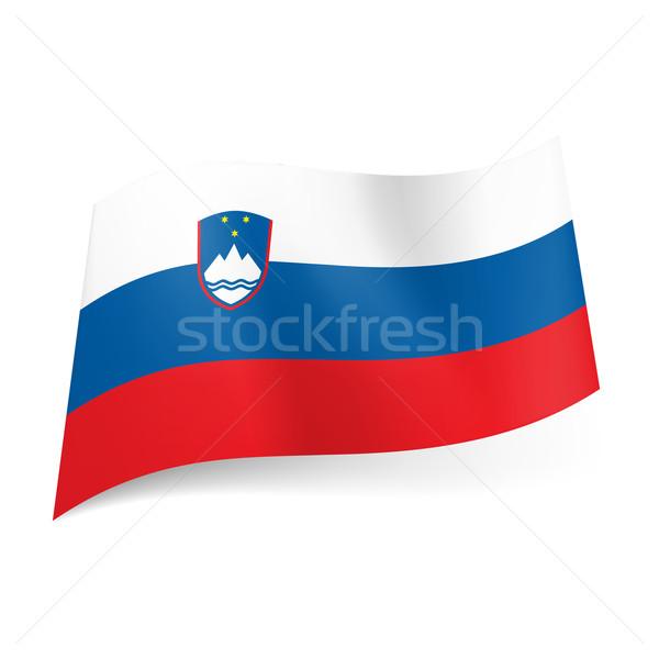 флаг Словения белый синий красный горизонтальный Сток-фото © dvarg
