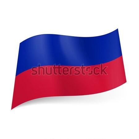 Bayrak Haiti mavi kırmızı yatay Stok fotoğraf © dvarg