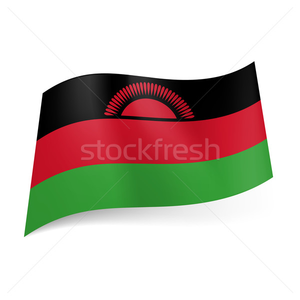 State flag of Malawi Stock photo © dvarg