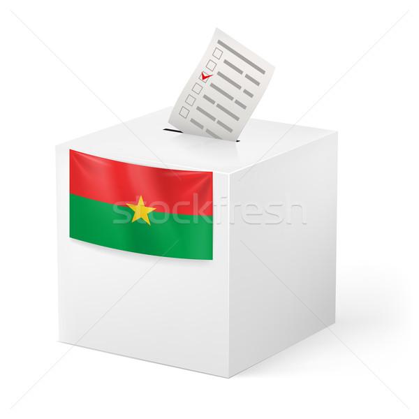 Ballot box with voting paper. Burkina Faso Stock photo © dvarg