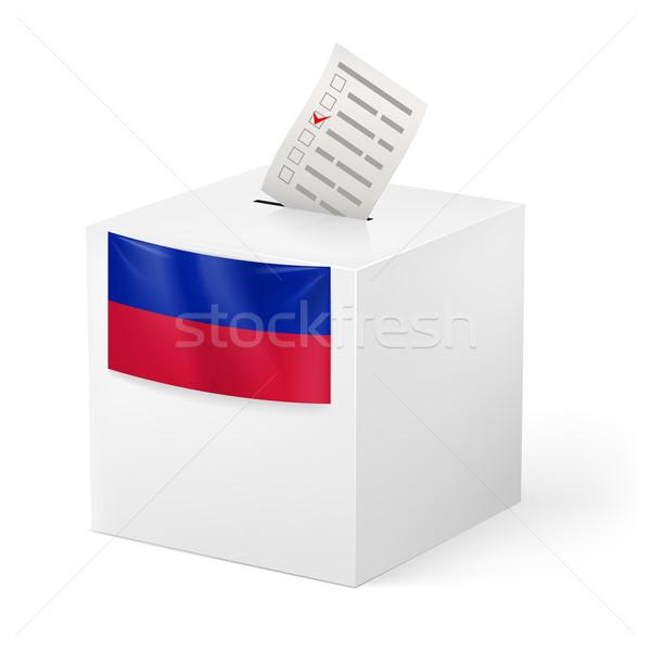 Scrutin boîte papier Haïti élection Photo stock © dvarg