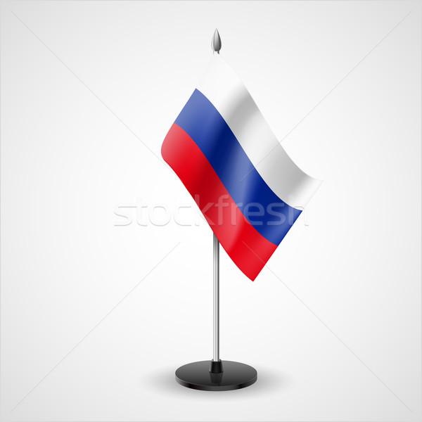 Table flag of Russian Federation Stock photo © dvarg